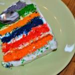 Pestrobarevný dětský dort