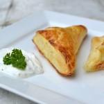 Šátečky s lososem a kozím sýrem