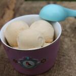 Zmrzlina z karamelizovaných broskví