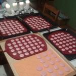 Makronky s vanilkovým a čokoládovým krémem