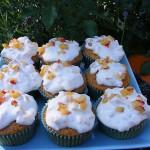 Cupcakes z dýně hokkaido s nektarinkovou polevou