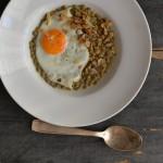 Čočka nakyselo se sázeným vejcem
