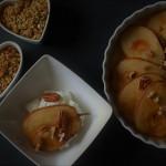 Pečené hrušky s javorovým sirupem a Skyr natur