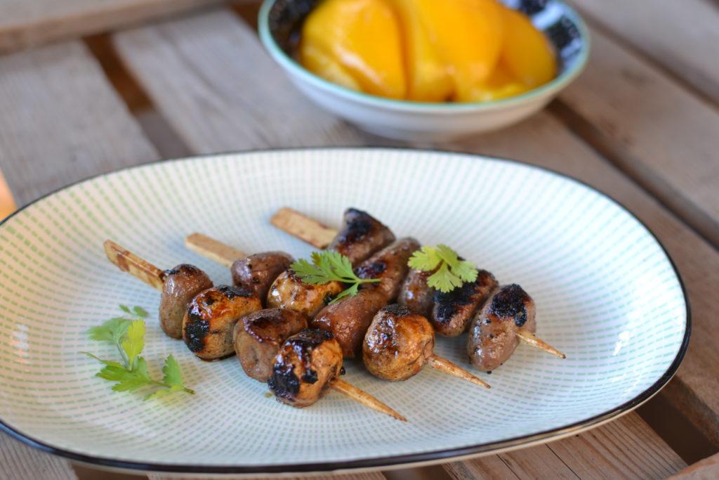 PE-PO Grillzona – Grilovaná kuřecí srdíčka se žampiony