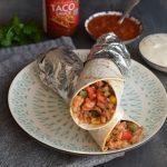 Mexické burrito s fazolemi a mletým masem